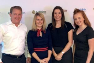 The Murray team with Sarah Boyd, Operations Director Left to right: Ken, Sarah, Amy & Melissa